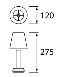 NEOZ kabellose Leuchten Modell Masse Victoria