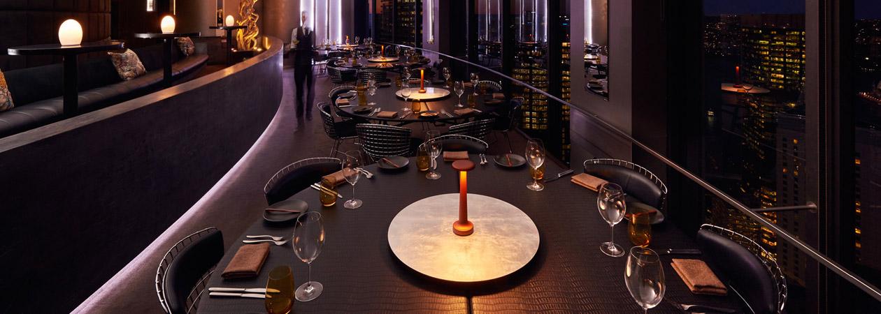 Neoz kabellose Leuchte Tall Poppy - Location O Bar Dining Sydney