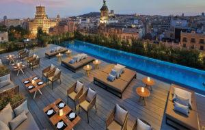 NEOZ kabellose Leuchte Ice Round 100 - Location Mandarin Oriental Barcelona