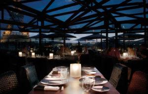 NEOZ kabellose Leuchte Ice Square 100 - Location Les Ombres Restaurant