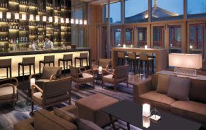 NEOZ kabellose Leuchte Ice Square 85 - Location Streaming Bar Shangi La Hotel Qufu