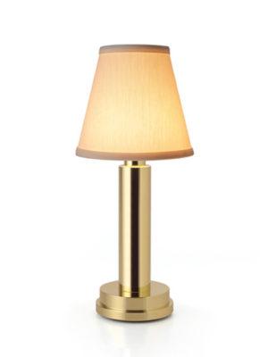 NEOZ kabellose Leuchte Victoria - Farbe Messing mit Baumwollschirm